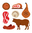 beef flat style colorful cartoon vector image vector image