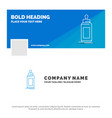 blue business logo template for feeder bottle vector image