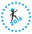 Boy Climbing 2016 Icon vector image vector image