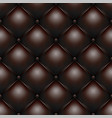 brown buttoned leather upholstery pattern texture vector image
