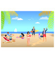 business summer vacations vector image vector image
