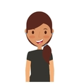 cartoon young girl icon vector image vector image