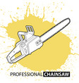 chain saw on bright background vector image vector image
