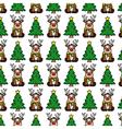 Christmas background Reindeer vector image vector image