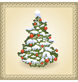 Christmas tree 10 vector image