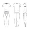 clothing set of t-shirt and training tights vector image vector image