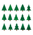 collection of christmas trees modern interesting vector image vector image