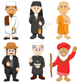 collection of religious leader cartoon vector image vector image