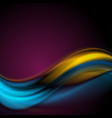 colorful abstract smooth waves background vector image vector image