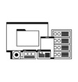 computer mobile database server compact disk vector image vector image
