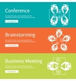 Conference business meeting and brainstorming vector image vector image