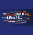 coronavirus disease epidemic illness word tag vector image vector image