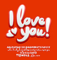 cute greeting card i love you vector image vector image