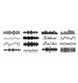 different sound waves black vector image
