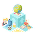 distance education isometric design vector image vector image