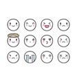 doodle emoticons vector image