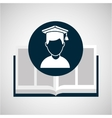 education opened book boy character vector image