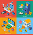 electronic banking isometric concept vector image vector image
