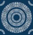 ethnic round ornament pattern of ancient america vector image