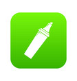 felt tip pen icon green vector image