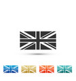 flag of great britain icon isolated uk flag sign vector image vector image