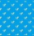 football pass pattern seamless blue vector image