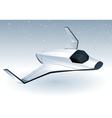 futuristic space shuttle vector image