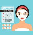 girl with cosmetic face mask vector image vector image