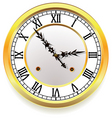 golden clock vector image vector image