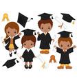 graduation kids02 vector image