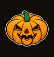 halloween pumpkin colorful vector image vector image