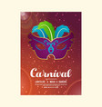 happy brazilian carnival day carnival party vector image