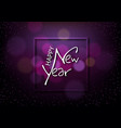happy new year on dark background with bokeh vector image vector image