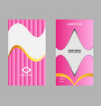 horizontal abstract business cards vector image