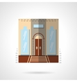 Hotel entrance flat color icon vector image vector image