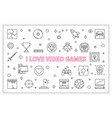 i love video games outline horizontal vector image vector image