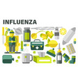 influenza treatment cold or flue medication sick vector image vector image
