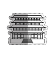 Japanese pagoda temple vector image vector image