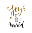 joy to world christmas and new year vector image