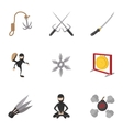 Killer icons set cartoon style vector image vector image