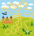 labyrinth game With Castle fairytale landscape vector image vector image