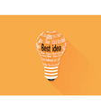 lamp idea flat icon vector image vector image