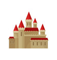 large medieval castle with bright red roof great vector image vector image