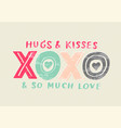 love drawing 3d style vector image vector image