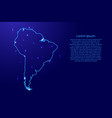 map south america from the contours network blue vector image