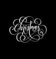 merry christmas flourish hand drawn swash vector image vector image