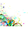 mosaic colorful background vector image