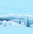 mountains and sky landscape vector image vector image