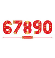 numbers japan style in a set 67890 vector image vector image
