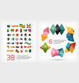 paper geometric banner templates vector image vector image